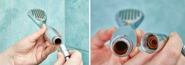 How To Take Apart A Handheld Shower Head