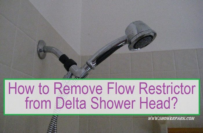 How To Remove Flow Restrictor From Delta Shower Head Learning Easy 12 Steps Shower Park