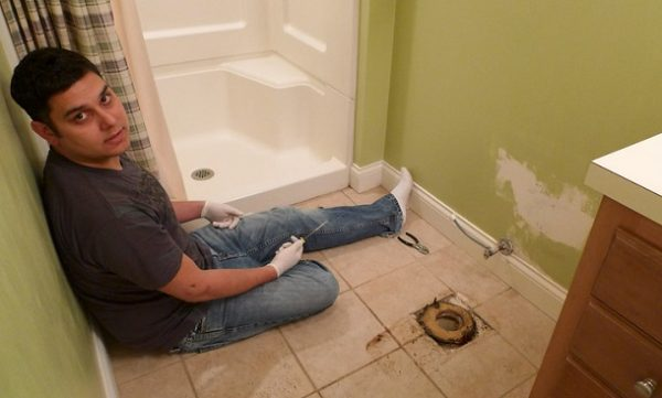 How to Install a Toilet in a Basement with a Rough in Pipe