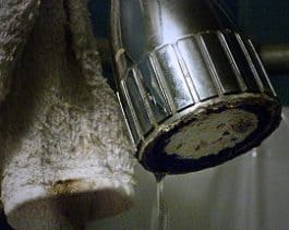 Mineral Build-Up clogged showerhead